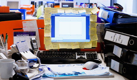 A cluttered workplace can reduce employee productivity and can affect your client's view of your business. Learn how to keep